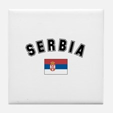 Serbian Flag Tile Coaster