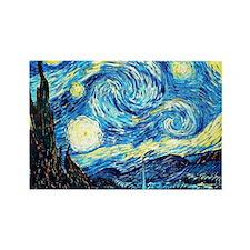 Van Gogh - Starry Night Rectangle Magnet