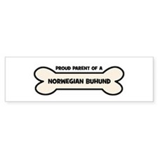 Proud Parent: NORWEGIAN BUHUN Bumper Bumper Sticker