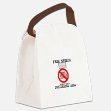 FREE SPEECH DESIGNATED AREA Canvas Lunch Bag
