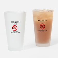 FREE SPEECH DESIGNATED AREA Drinking Glass