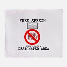 FREE SPEECH DESIGNATED AREA Throw Blanket