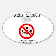FREE SPEECH DESIGNATED AREA Decal