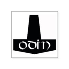 "Odin Hammer Square Sticker 3"" x 3"""