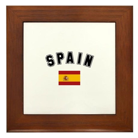 Spanish Flag Framed Tile