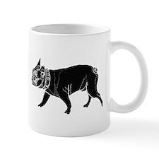 francois the French bulldog black 2 Mugs