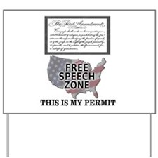 FREE SPEECH PERMIT Yard Sign