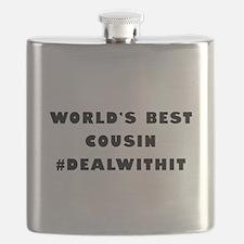 World's Best Cousin (Hashtag) Flask