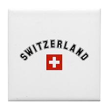 Swiss Flag Tile Coaster