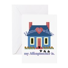 Home Is Affenpinscher Greeting Cards (Pk of 10