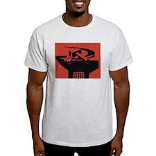 Stylish Hammer & Sickle Ash Grey T-Shirt