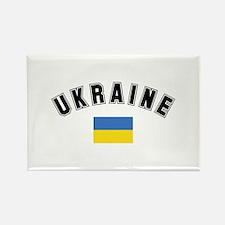 Ukrainian Flag Rectangle Magnet