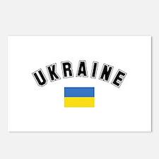 Ukrainian Flag Postcards (Package of 8)