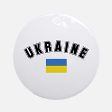 Ukrainian Flag Ornament (Round)