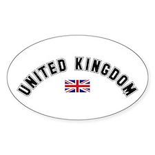 United Kingdom Flag Oval Decal
