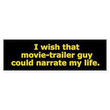 Movie-Trailer Guy Bumper Bumper Sticker