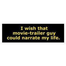 Movie-Trailer Guy Bumper Bumper Stickers