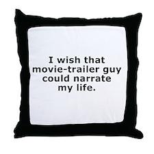 Movie-Trailer Guy Throw Pillow