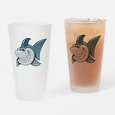 Cartoon Shark Drinking Glass