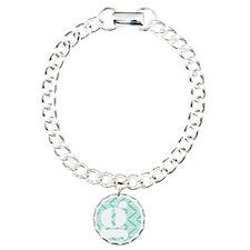 Teal Chevron Monogram-G Bracelet