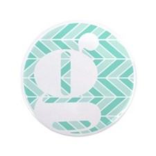 "Teal Chevron Monogram-G 3.5"" Button"