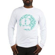 Teal Chevron Monogram-G Long Sleeve T-Shirt