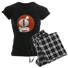 vermillion chevron monogram- pajamas