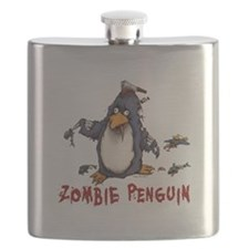 Zombie Penguin Flask