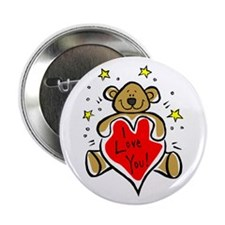 """I Love You Bear 2.25"""" Button (100 pack)"""