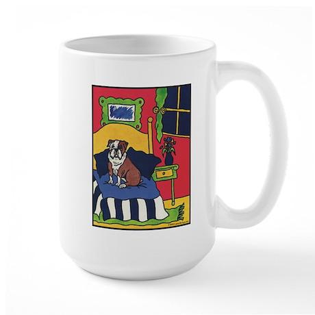 """Bullish at Bedtime"" Bulldog Large Mug"