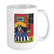 """""""Bullish at Bedtime"""" Bulldog Mug"""