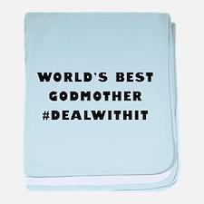 World's Best Godmother (Hashtag) baby blanket