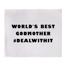 World's Best Godmother (Hashtag) Throw Blanket