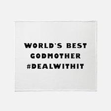 World's Best Godmother (Hashtag) Throw Blanket