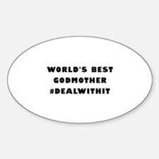 World's Best Godmother (Hashtag) Sticker (Oval)