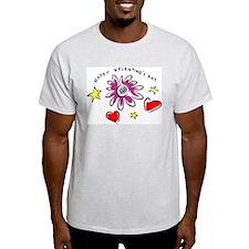 Happy Valentine's Day Ash Grey T-Shirt
