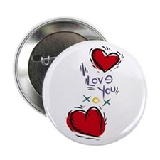 """I Love You Hearts 2.25"""" Button (10 pack)"""