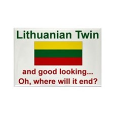 Lithuanian Twin-Good Looking Rectangle Magnet