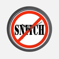 Yo Bitch STOP Snitchin Wall Clock