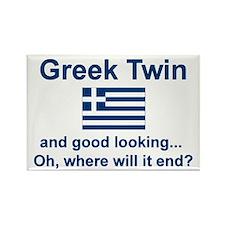 Greek Twin-Good Looking Rectangle Magnet