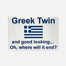 Greek Twin-Good Looking Rectangle Magnet