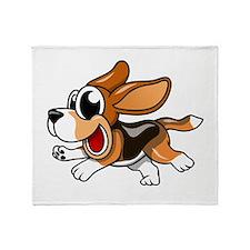 Cartoon Beagle Throw Blanket