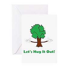 Tree Hugger Greeting Cards