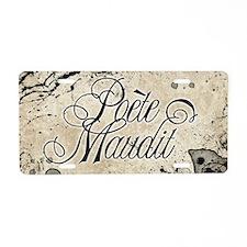 Poete Maudit Aluminum License Plate