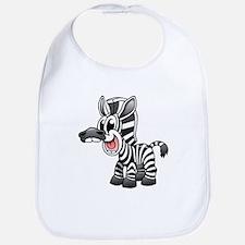 Cartoon Zebra Bib