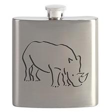 Rhinoceros Drawing Flask