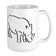 Rhinoceros Drawing Mugs