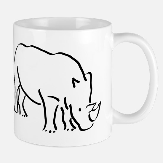 Rhinoceros Drawing Mugs
