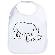 Rhinoceros Drawing Bib