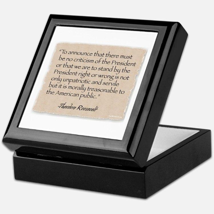 Keepsake Box: Criticism-Roosevelt
